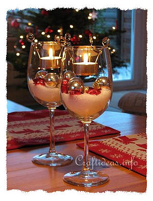 Free Christmas Craft Project Tea Light Decorations