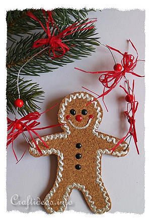 Free Christmas Craft Project - Gingerbread Man Ornament