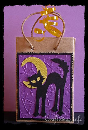 Paper Craft For Halloween Halloween Gift Bag With Cat