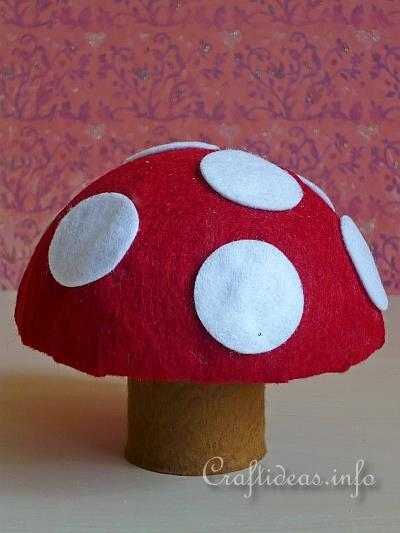 Fall Craft For Kids Recycling Craft Felt Toadstool